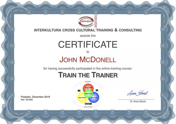 Certificate Train the Trainer